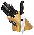 Forschner 8 piece knife oak block set #48891