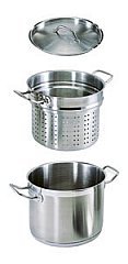 Update 20 Quart Stainless Steel Pasta Cookers SPSA-20