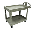 Rubbermaid 2 Shelf Utility Cart HD #452088BEIG