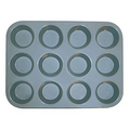 Thunder Muffin Pan, 12 Cup, Non-Stick #SLKMP012