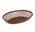 "Winco Brown Fast Food Baskets - 9-1/2"" x 5-3/4"" #PFB-10B"
