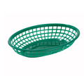 "Winco Green Fast Food Baskets - 9-1/2"" x 5-3/4"" #PFB-10G"