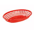 "Winco Red Fast Food Baskets - 9-1/2"" x 5-3/4"" #PFB-10R"