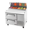 Turbo Air Two Drawer Pizza Prep Table - TPR-44SD-D2