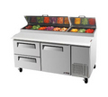 Turbo Air Two Drawer Pizza Prep Table - TPR-67SD-D2