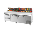 Turbo Air Two Drawer Pizza Prep Table - TPR-93SD-D2