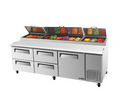 Turbo Air Four Drawer Pizza Prep Table - TPR-93SD-D4