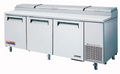 Turbo Air Super Deluxe Three Door Pizza Prep Table  - TPR-93SD