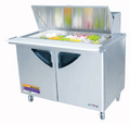 Turbo Air Two Door Mega Top Sandwich Table - TST-48SD-18