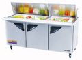Turbo Air Three Door Mega Top Sandwich Table - TST-72SD-30